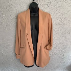 Lauren Conrad tan double front pocket blazer- 8